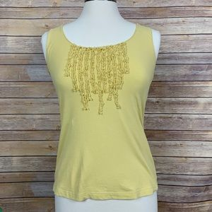Nic & Zoe S Yellow Tank w/Fun Ruffle Detail